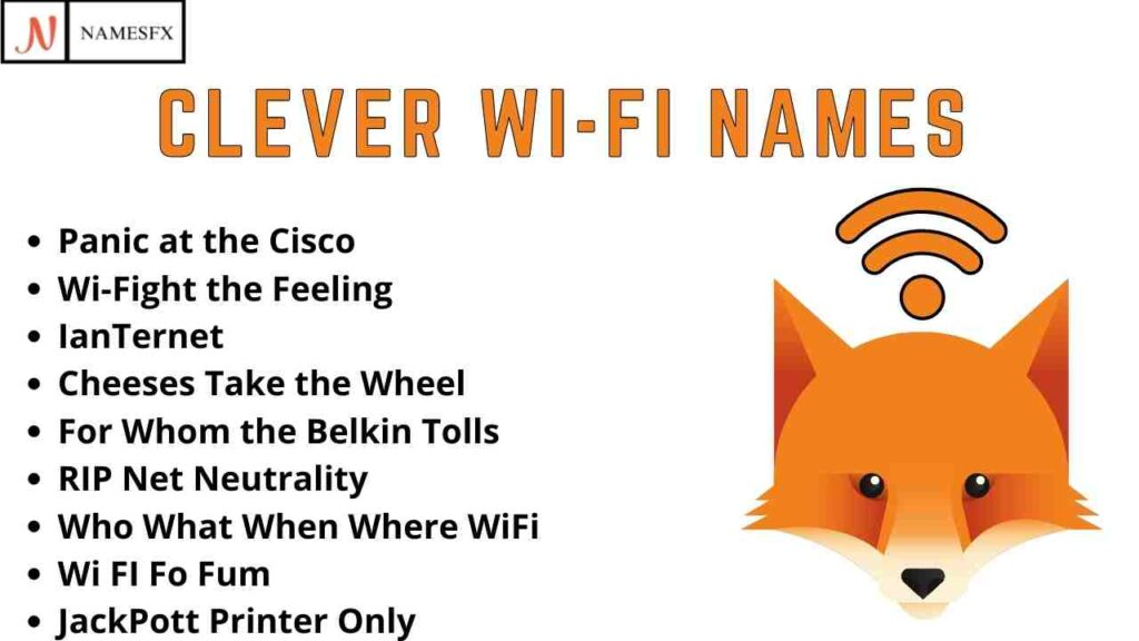 Clever Wi-fi Names,