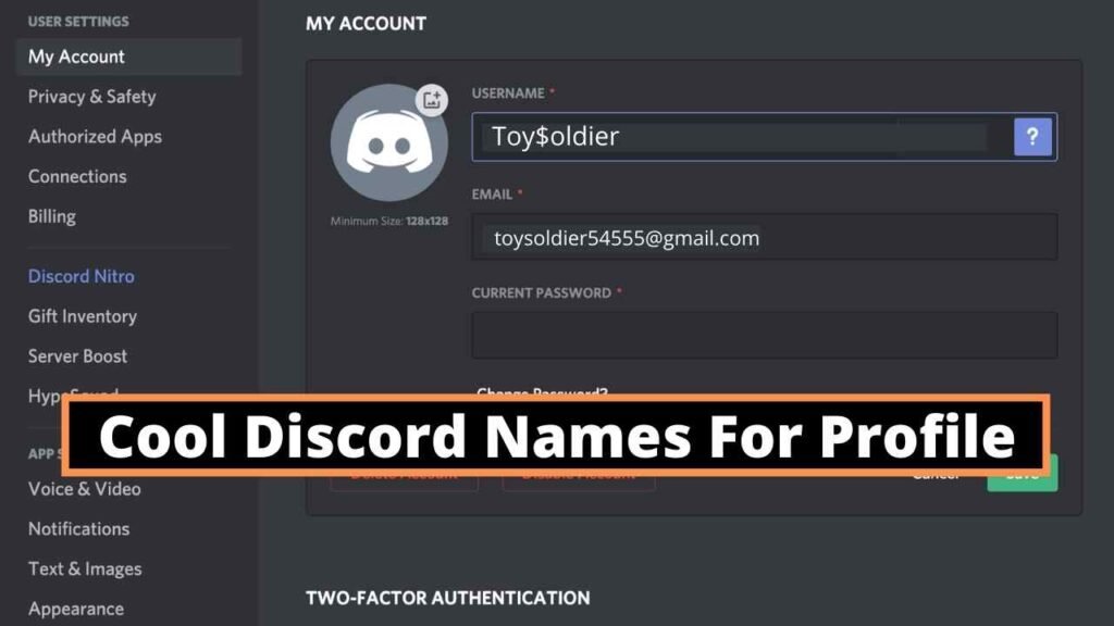 Cool Discord Names For Profile