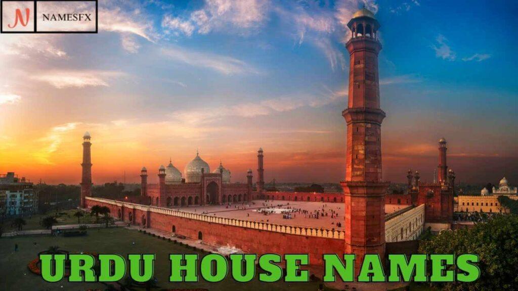 Urdu House Names,